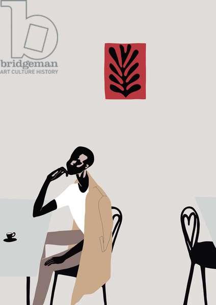 Cafe Scene with Matisse, 2016, (digital)