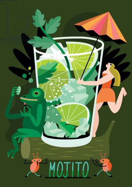 Mojito, 2017, (vector illustration)