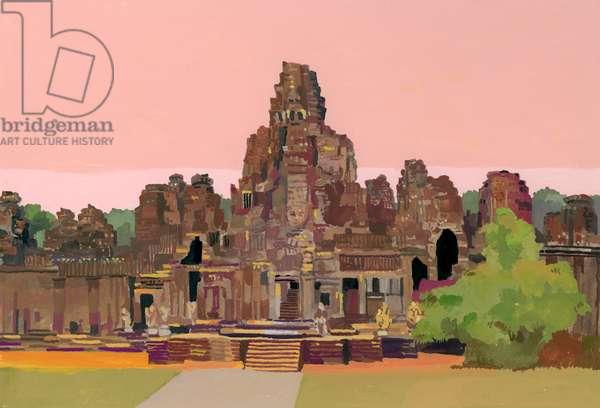 Angkor Thom in Cambodia,2016,