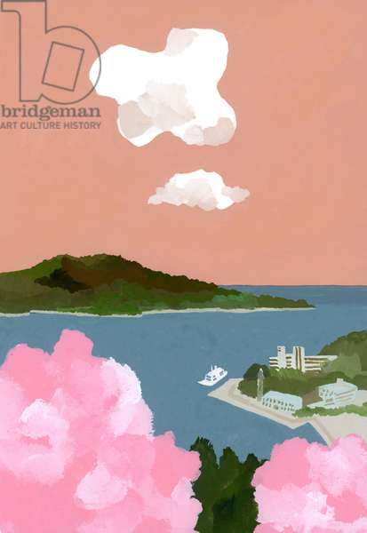 Cherry blossoms and harbors