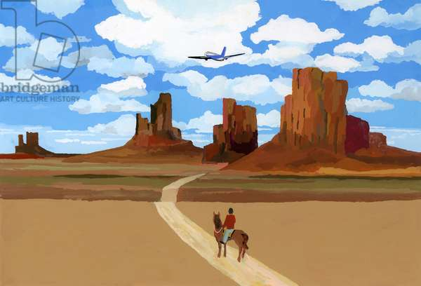 """Landscape like the movie """"Oh My Darling Clementine"""", 2016,"""