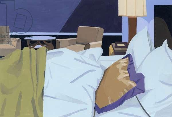 Hotel, bedroom, 2016,