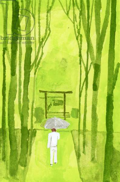 ise shrine; Torii is the entrance to the shrine;2016