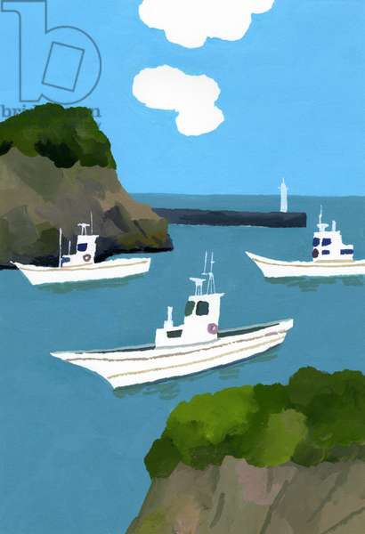 Three fishing boats.