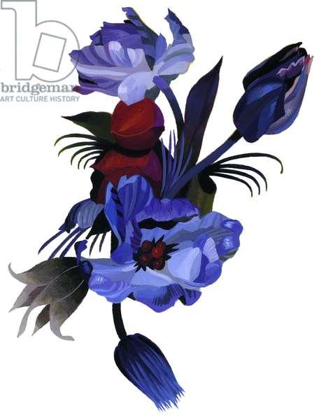 Deep blue tulips.