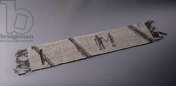 Wampum belt, made by Lenni Lenape Indian people, Pennsylvania