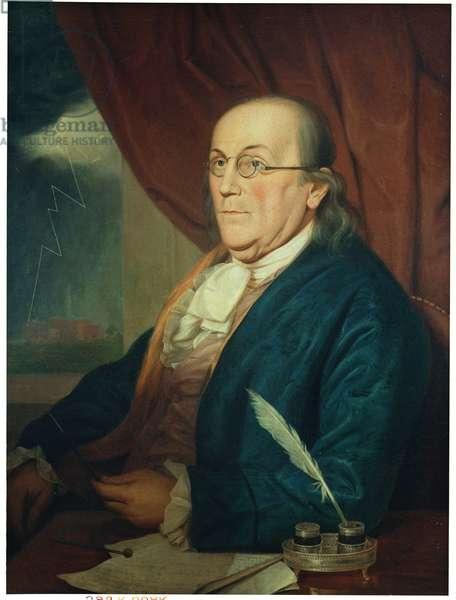 Portrait of Benjamin Franklin (1706-90) 1789 (oil on canvas)