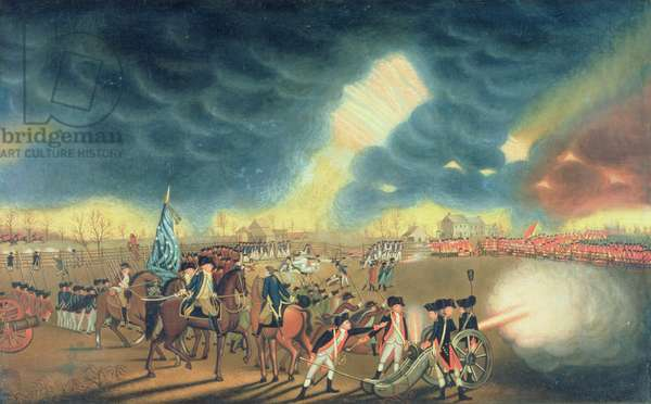 Battle of Princeton on 3rd January 1777 (oil on canvas)