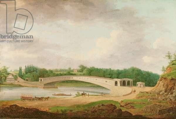Upper Ferry Bridge at Fairmount (oil on canvas)