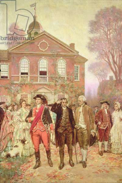 The First Continental Congress, Carpenter's Hall, Philadelphia in 1774, 1911 (oil on canvas)