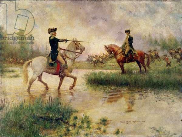 Washington's Rebuke of Lee (oil on panel)