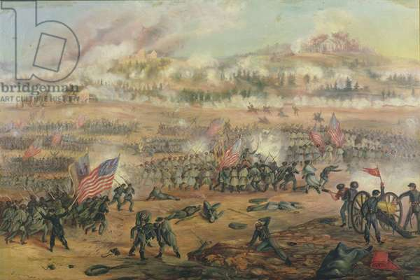 The Battle of Fredericksburg on 13th December 1862 (oil on canvas)