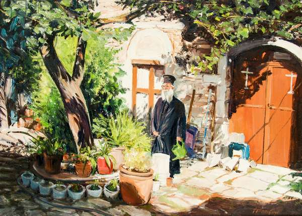 Priest in Skiathos, Greece