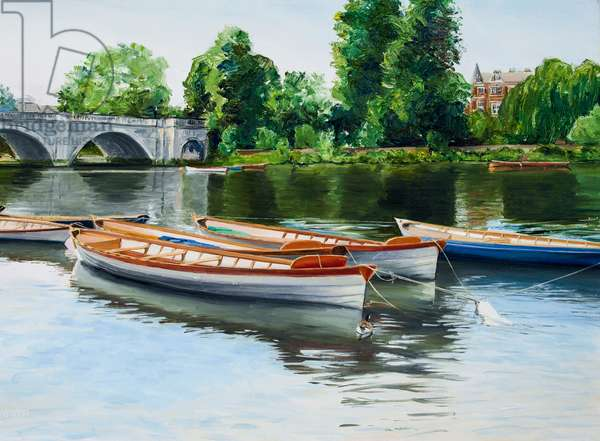 Boats on Thames at Richmond