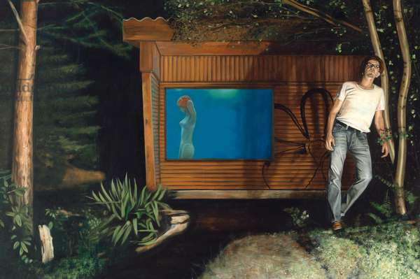 The Home, 2005 (oil on wood)