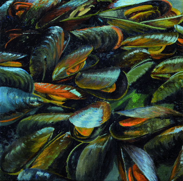 Mussels, 2014 (oil on canvas)
