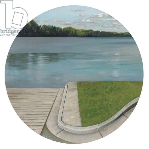 Olentangy River I, 2005 (oil on wood)