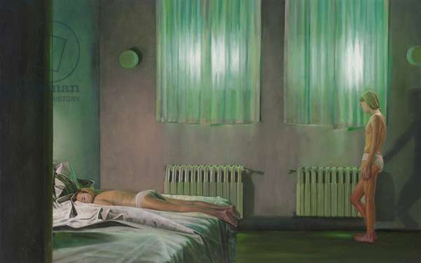 Am Ende der Ungeduld (At the end of impatience), 2006 (oil on wood)