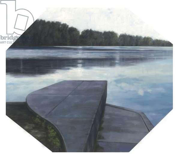 Olentangy River III, 2006 (oil on wood)