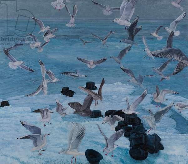 Sturzflug, 2011 (oil on canvas)