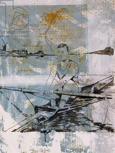 Calasthenics, 2000 (oil on paper)