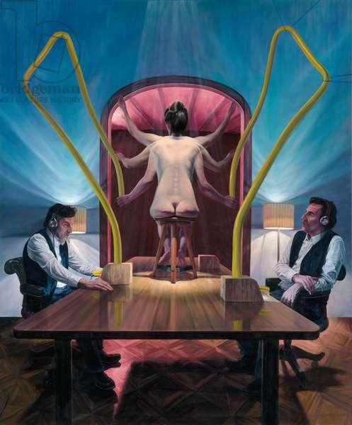 Die Mehrhändige Frau (The Multi-handed Woman), 2019 (oil on canvas)