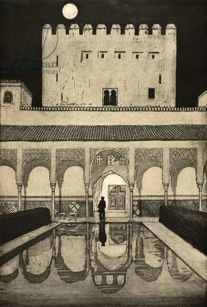Alhambra at Night, 2010, (etching/aquatint)