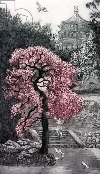Beijing Blossom, 2012, (etching/aquatint)