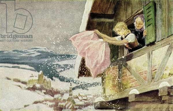 Mother Hulda (colour litho)