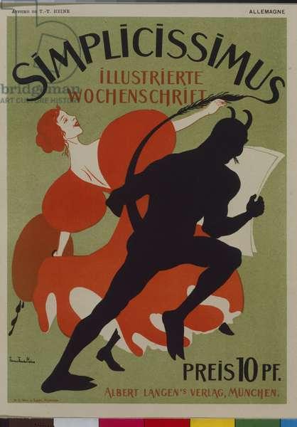 Simplicissimus advertising poster, 1896