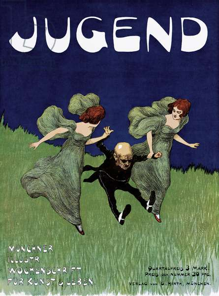 Poster advertising the 'Jugend' newspaper (colour litho)