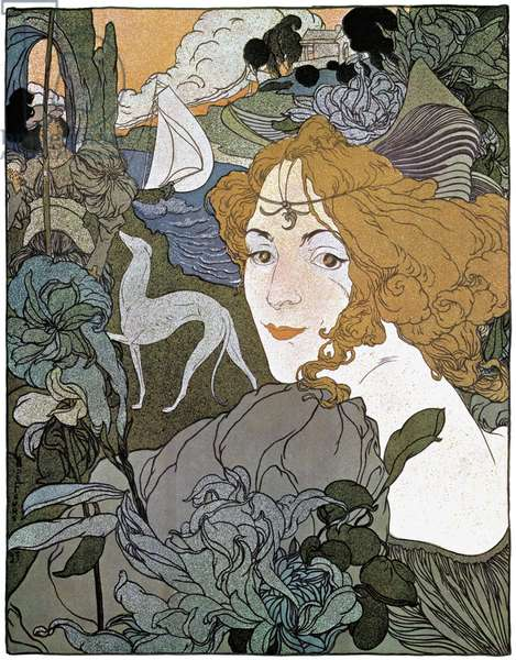 Diana, 1897 (colour litho)