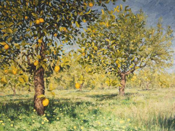 Impossibility of a lemon tree, 2013, oil on canvas