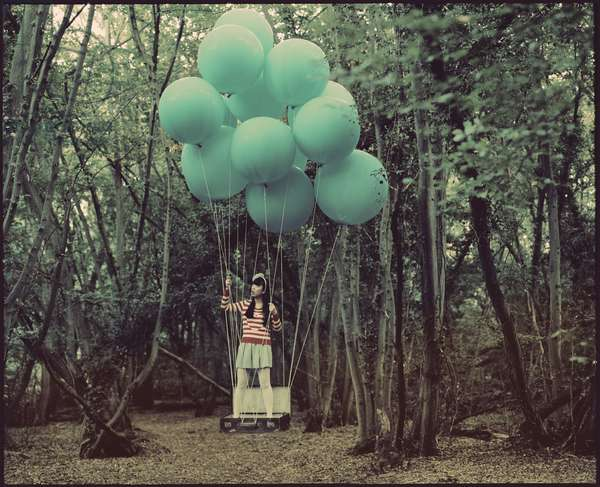 Elizabeth and the Blue Balloons, 2012, (photography)