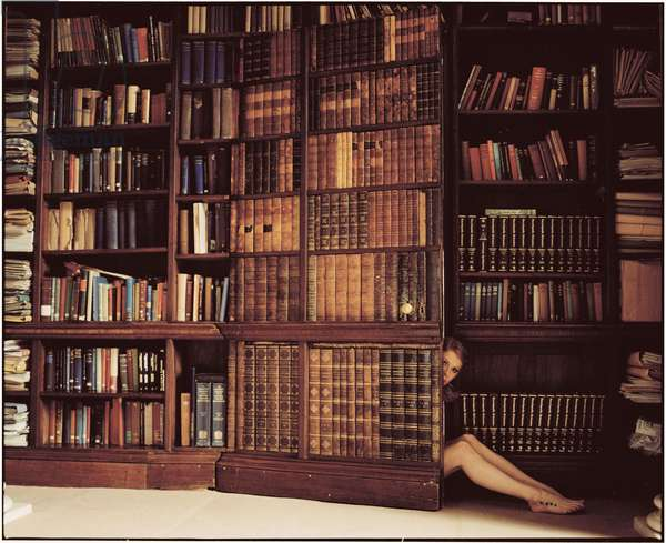Emily Behind the Book Door, 2012, (photography)