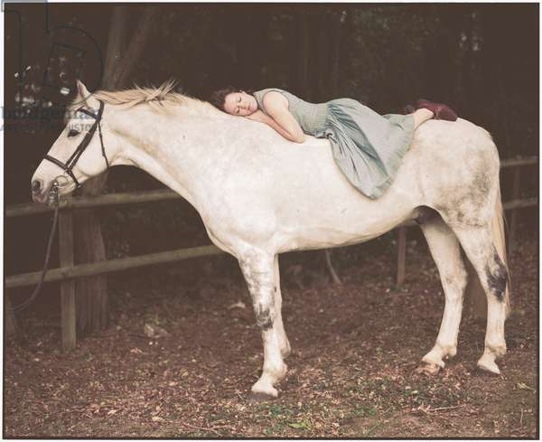 Emily and the White Horse, 2012, (photography)