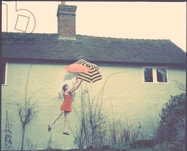 Ophelia and the Umbrellas, 2012, (photography)