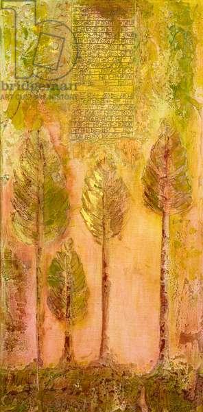 Trees by the Tigris, near Nineveh, 2004 (acrylic on canvas)