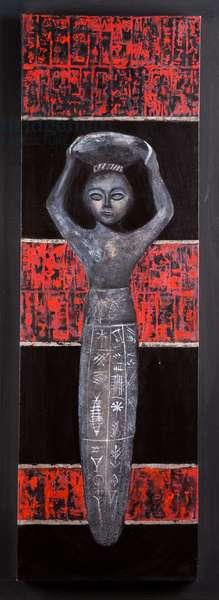 King Nammu (2112-2095 BC) 2005 (acrylic on canvas)