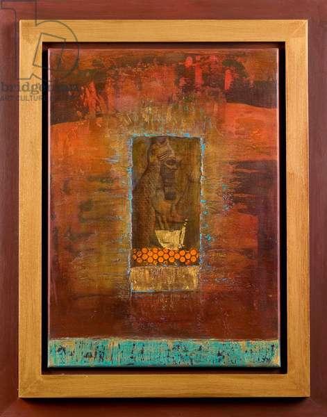 Fish god, Nimroud I, 2004 (acrylic on canvas)