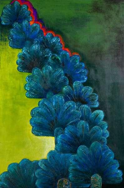 Sumerian palm trees, 2006 (acrylic on canvas)