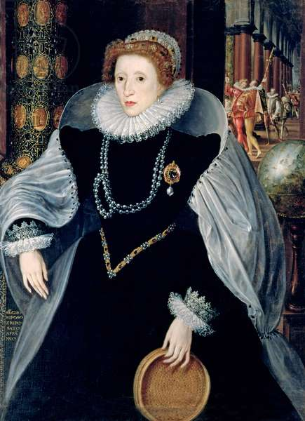 Sieve Portrait of Queen Elizabeth I in Ceremonial Costume, c.1583 (oil on canvas)
