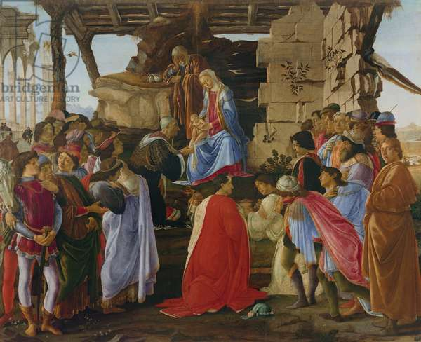Adoration of the Magi (tempera on panel) (for detail see 315894)