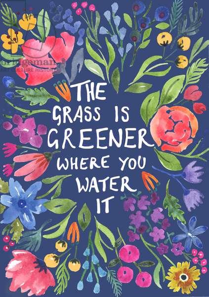 Greener Grass (blue background)