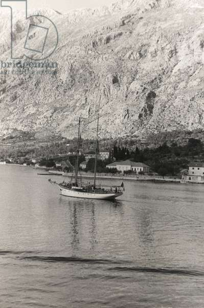 The Sailboat of the Duke of Aosta, off the coast of Kotor, Croatia, from the 'Corfu, Athens and the Bay of Kotor' Album, 1935 (gelatin silver print)