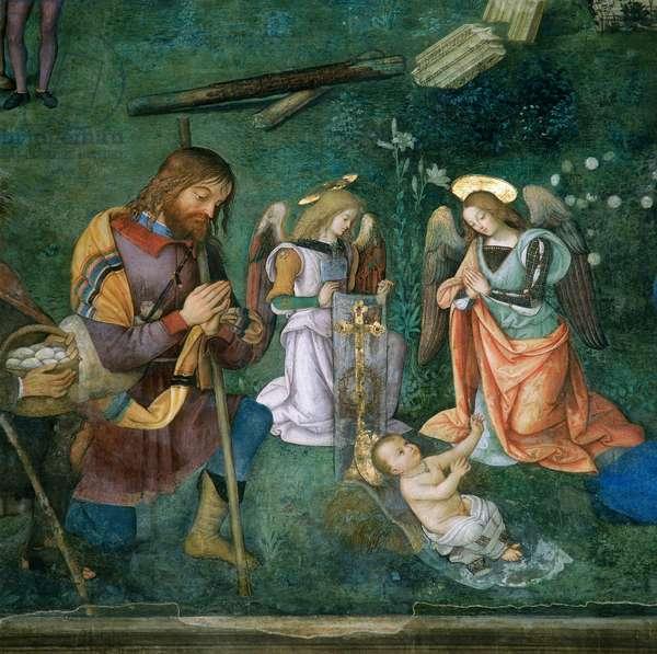 The Christ Child, detail of the Nativity (fresco)