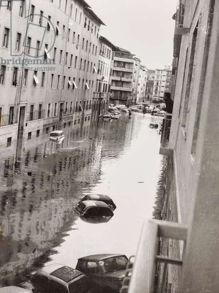 Florence flood of November 4, 1966: via Quintino Sella flooded