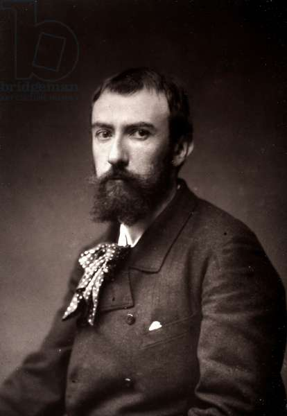 The artist Henri Lerolle portrayed on the occasion of the Salon of Paris in 1885 (b/w photo)