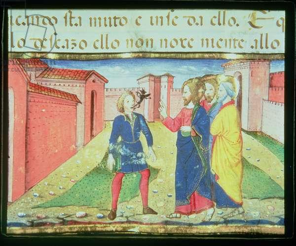 Fol.49r Christ Heals a Man Possessed (vellum)