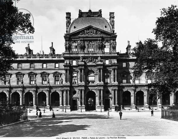Facade of the Richelieu Pavillion, part of the Louvre Museum, Paris